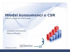 Młodzi konsumenci o CSR – prezentacja wyników badania przeprowadzonego przez Gemius SA i Forum Odpowiedzialnego Biznesu