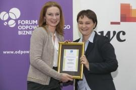 Wyróżnienie odbiera Justyna Czarnoba (GSK S.A.)