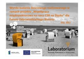 """Wyniki badania ilościowego realizowanego w ramach projektu """"Współpraca międzysektorowa na rzecz CSR na Śląsku"""""""