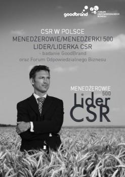 Badanie Menedżerowie 500 / Lider CSR