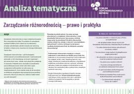 """Analiza tematyczna """"Zarządzanie różnorodnością – prawo i praktyka"""""""