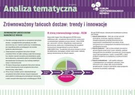 """Analiza tematyczna """"Zrównoważony łańcuch dostaw: trendy i innowacje"""""""