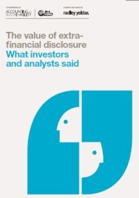 The value of extrafinancial disclosure. What investors and analysts said