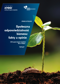 """""""Społeczna odpowiedzialność biznesu: fakty a opinie"""" – wspólne badanie KPMG Polska i Forum Odpowiedzialnego Biznesu"""