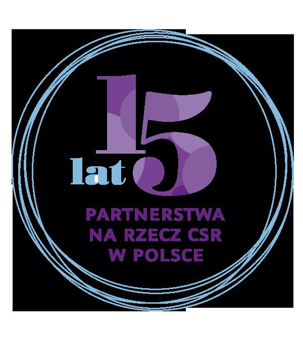 Logo 15 lat partnerstwa na rzecz CSR w Polsce