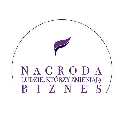 """Logo Nagrody """"Ludzie, którzyzmieniają biznes"""""""