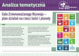 """Analiza tematyczna """"Cele Zrównoważonego Rozwoju – plan działań dla ludzi i planety"""""""