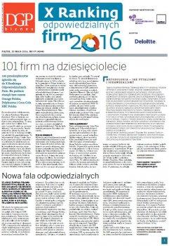 X Ranking Odpowiedzialnych Firm – dodatek do Dziennika Gazety Prawnej