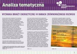 Wyzwania branży energetycznej w ramach zrównoważonego rozwoju
