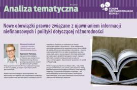 Nowe obowiązki prawne związane z ujawnianiem informacji niefinansowych i polityki dotyczącej różnorodności – analiza tematyczna