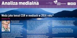 Woda jako temat CSR w mediach w 2016 roku