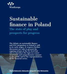 Sustainable finance in Poland. The state of play and prospects for progress