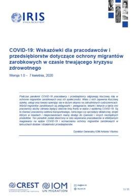 Ochrona migrantów zarobkowych w obliczu COVID-19