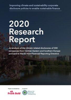 Tylko 30% firm dostarcza wystarczająco szczegółowych informacji o polityce klimatycznej