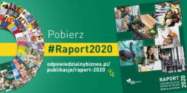 """Raport """"Odpowiedzialny biznes w Polsce 2020. Dobre praktyki"""""""