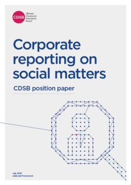 Corporate reporting on social matters
