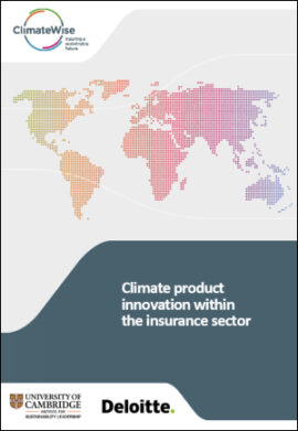 Climate product innovation within the insurance sector