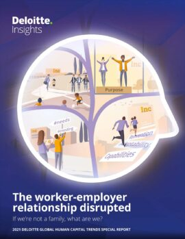 The worker-employer relationship disrupted